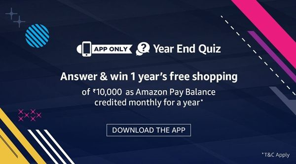 Amazon year end quiz answers