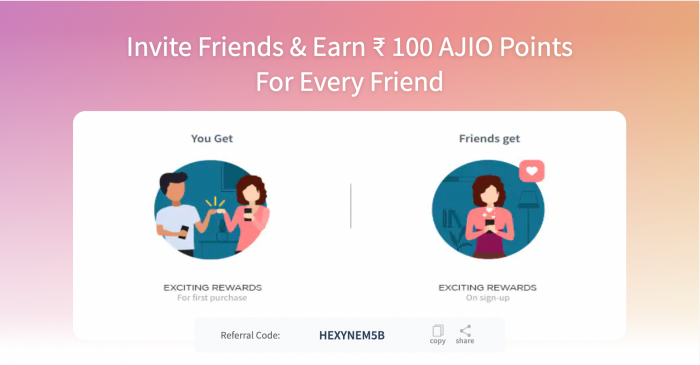 ajio refer and earn offer
