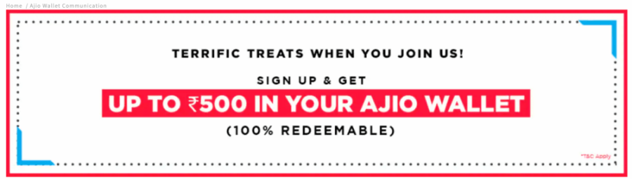 ajio signup offer
