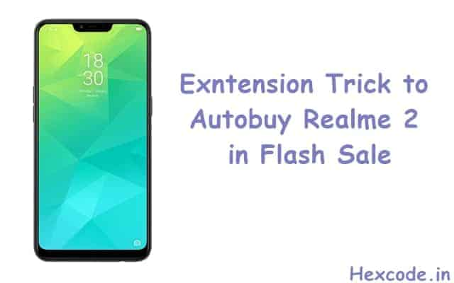 Autobuy realme 2 flash sale