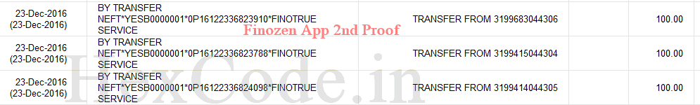 finozen app refer and earn proof