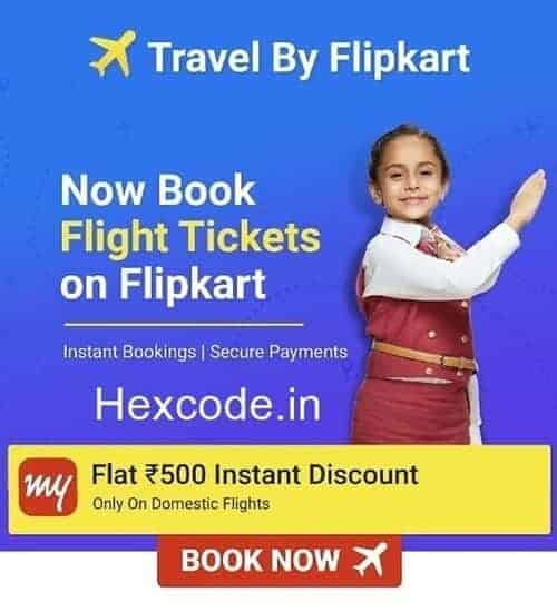 flipkart flight offer