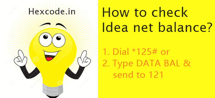 how to check idea net balance