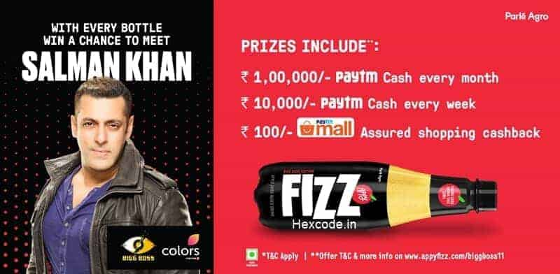 Paytm Appy Fizz Offer
