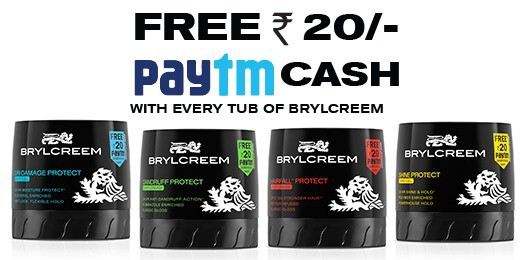 paytm brylcreem offer