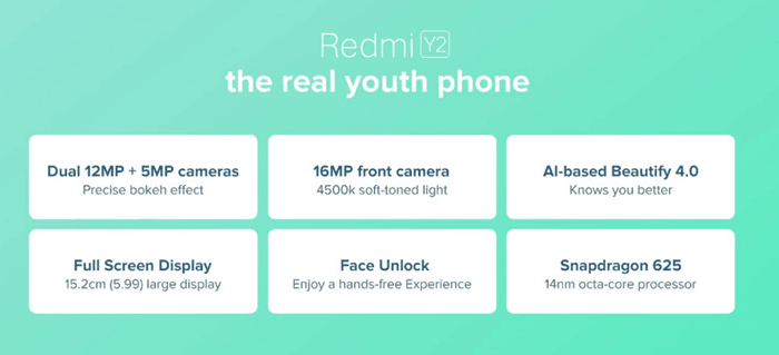 redmi y2 amazon specifications
