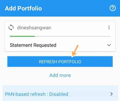 start tracking portfolio in wealthtrust app