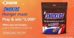 Amazon Snickers Hunger Maze Quiz answers – 20 December – Win 5000 Rs