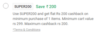 Paytmmall 200 Rs cashback on Shopping of 299 Rs or more (All Users)