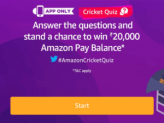 Amazon Cricket Quiz Answers – Win 20000 Rs Pay balance