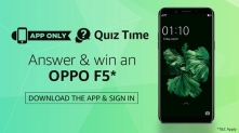 Amazon Oppo F5 Quiz Answers – 26 January – Win an Oppo F5 Smartphone
