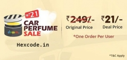(Over) Droom Car Perfume sale at 11AM today, Get perfume at 21 Rs