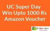 (Expired) Win Upto 1000 Rs Amazon or Flipkart Voucher Free in UC Super Day